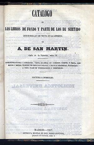 Catálogo de los libros de fondo y: LIBRERÍA DE A.