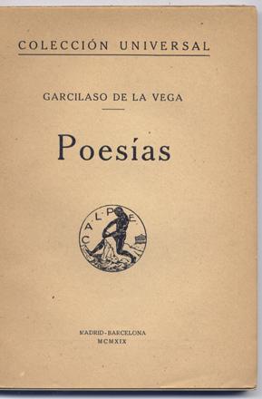 Poesías.: GARCILASO DE LA VEGA.