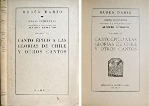Canto épico a las glorias de Chile: DARIO, Rubén.