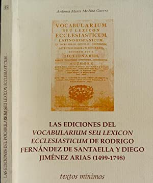 """Las ediciones del """"Vocabularium seu Lexicon Ecclesiasticum"""": MEDINA GUERRA, Antonio"""