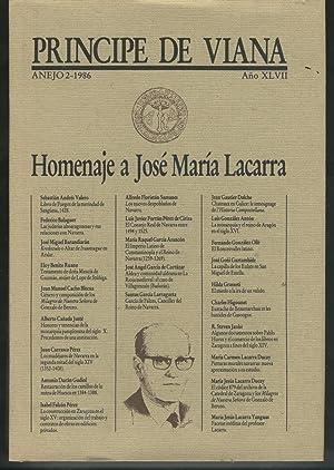 """HOMENAJE A JOSE MARIA LACARRA. TOMO I Publicaciones cuatrimestrales """"Príncipe de Viana&..."""