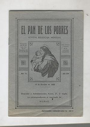 EL PAN DE LOS POBRES Revista Religiosa Mensual. Num.714; Buen estado: Varios Autores-