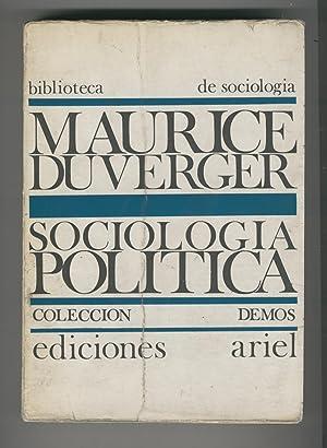 SOCIOLOGIA POLITICA Biblioteca de sociología, Colección Demos. 3ª Edición...