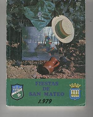 FIESTAS DE SAN MATEO 1.979 Catálogo de las Fiestas Mateas. Ilustraciones b/n.Sin ...