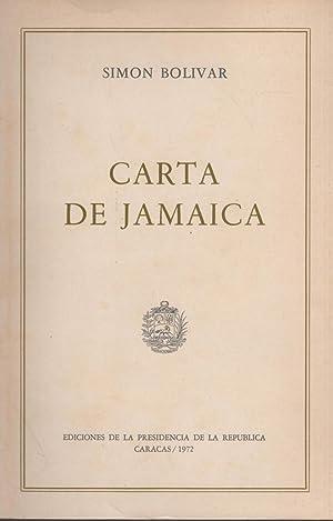 CARTA DE JAMAICA Ediciones de la Presidencia de la República: BOLIVAR, SIMON -