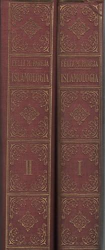 ISLAMOLOGIA. dos tomos.Con apendice de literatura Arabigoespañola: Pareja, Felix M.