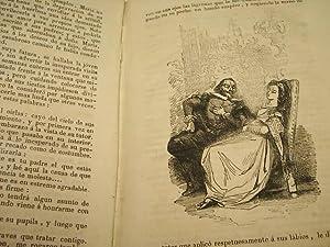 MARIA O EL TUTOR Y LA HUERFANA.novela original. Grabados, contraportada estropeada, lomo piel: ...