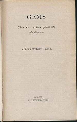 GEMS Their sources, descriptions and identification. Idioma: Webster, Robert-