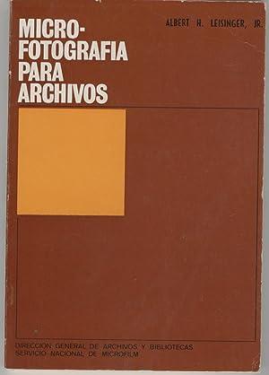 MICROFOTOGRAFIA PARA ARCHIVOS Versión española de Mª del Carmen Guzmá...