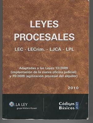 LEYES PROCESALES. LEC - LECrim - LJCE - LPL Colección Códigos Básicos. 3ª...