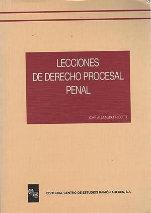 LECCIONES DE DERECHO PROCESAL PENAL Muy buen: Almagro Nosete, José-