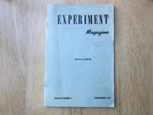 "Evolution"" in Experiment Magazine, issue number 4 (December, 1950): Plath, Sylvia"