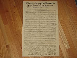 Facsimile of the Declaration of Independence: Jefferson, Thomas