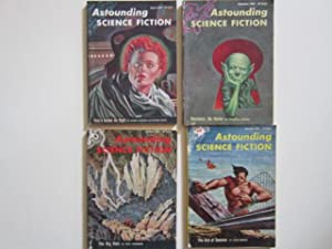 """The Man Who Counts"""" (complete serialization) in Astounding Science Fiction (August, September,..."""