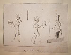 """Figures in the Temple of Dendera."""" Steel engraving from Engravings of the World: Or, The ..."""