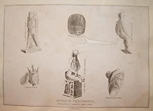 """Antique Fragments."""" Steel engraving from Engravings of the World: Or, The Present State of the..."""