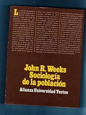 SOCIOLOGIA DE LA POBLACION : introducción a los conceptos y cuestiones básicas.: ...