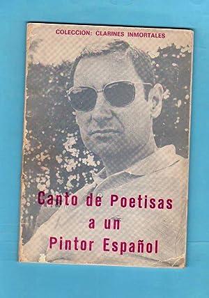 CANTO DE POETISAS A UN PINTOR ESPAÑOL.: TABOADA, Luisa (L. Taboada) ; CONDE, Carmen (C. ...