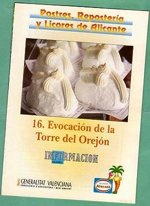 POSTRES, REPOSTERIA Y LICORES DE ALICANTE. Fascículo: GONZALEZ POMATA, Antonio