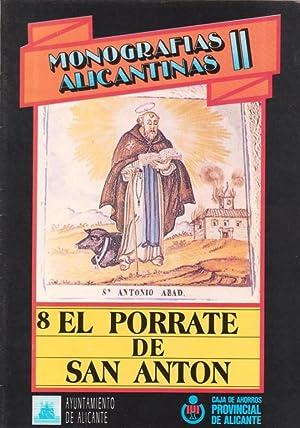 MONOGRAFIAS ALICANTINAS II. Nº 8: El Porrate: OLIVER NARBONA, Manuel