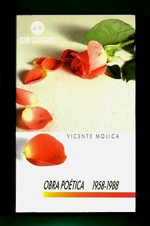 OBRA POETICA 1958-1988. [Obra poética, 1958 - 1988]: MOJICA, Vicente [V. Mojica]
