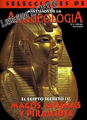 SELECCIONES DE MISTERIOS DE LA ARQUEOLOGIA . Nº 1, 2, 7 y 8 : El Egipto secreto 1, 2, 3 y 4.
