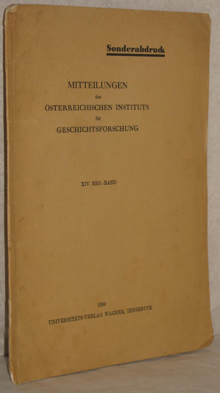 Das Diplom Friedrichs I. vom 12. Dez.: Mayer, Theodor