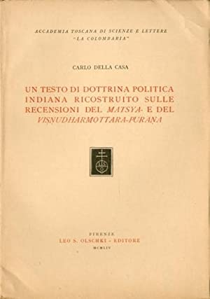 Un testo di dottrina politica indiana ricostruito: Della Casa, Carlo