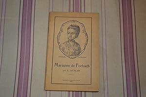 Marianne de Forbach.: KüBLER (L. )