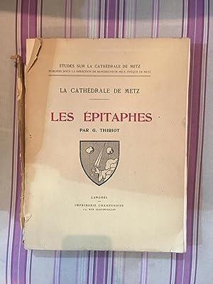 Les épitaphes.: THIRIOT (G.)