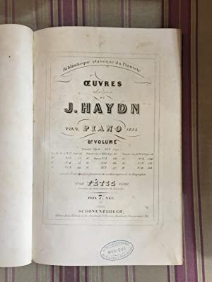 Oeuvres choisies de J, Haydn pour piano seul.