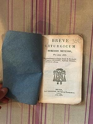 Breve liturgicum dioecesis metensis, pro anno 1835.: BESSON (Francis)