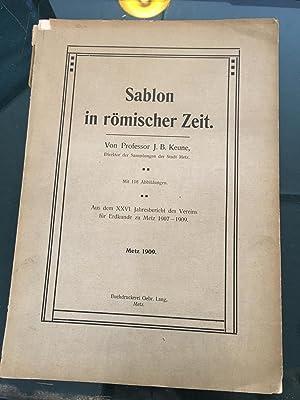 Sablon in römischer Zeit.: KEUNE (J.B.)