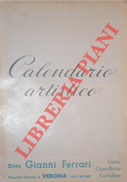 Calendario 1974.Calendario Artistico 1974