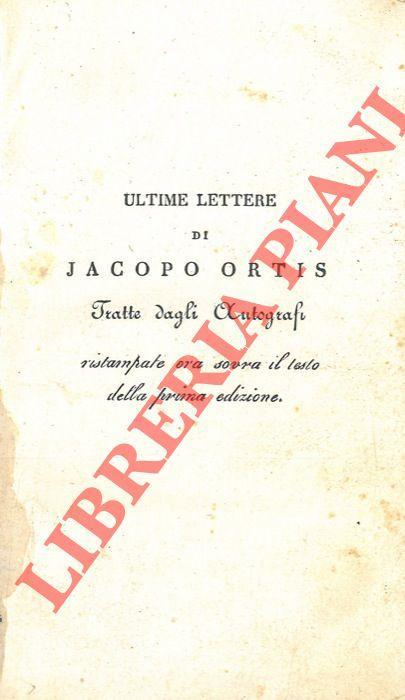 Ultime lettere di Jacopo Ortis tratte dagli