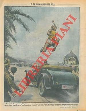 A Nizza, sulla Passeggiata degli Inglesi, l'acrobata: PISANI Vittorio -