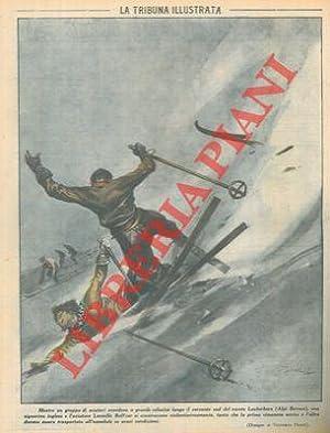 Mentre un gruppo di sciatori scendeva a: PISANI Vittorio -
