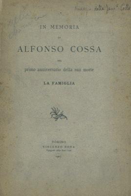 In memoria di Alfonso Cossa nel primo: Famiglia Cossa -