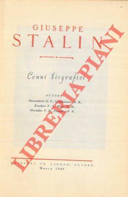Giuseppe Stalin. Cenni biografici.: ALESSANDROV G. F.