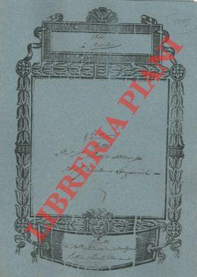 Vendita di un predio di terreno detto: Morisi/Lanzarini -