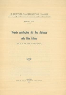 Seconda contribuzione alla flora algologica della Libia: DE TONI G.