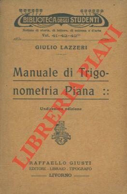 Manuale di trigonometria piana.