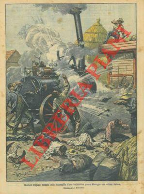 Scoppio della locomobile di una trebbiatrice con: BELTRAME A. -
