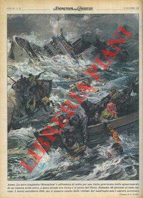 """Nave traghetto """"Heraklion"""" affonda per una falla,: CIRIELLO -"""