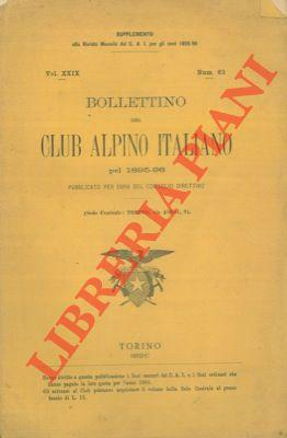 Bollettino del Club Alpino Italiano. Anno 1895-96. Vol. XXIX. n° 62
