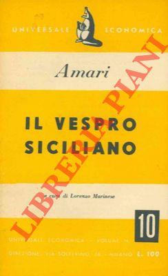 Il Vespro siciliano.: AMARI Michele -