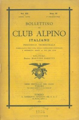 Bollettino del Club Alpino Italiano. Anno 1878. Vol. XII. n° 33.