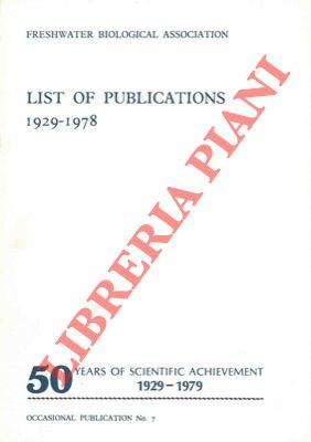 List of publications of the Freshwater Biological Association 1929-1978.