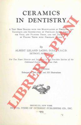 Ceramic in dentistry.: LeGRO Albert Leland