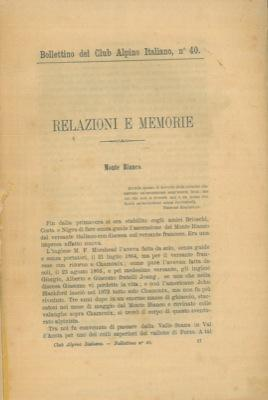 Bollettino del Club Alpino Italiano. Anno 1879. Vol. XIII. n° 40.